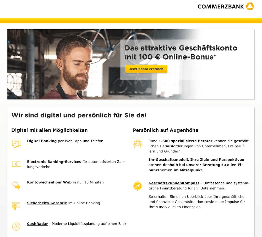 Commerzbank Firmenkonto