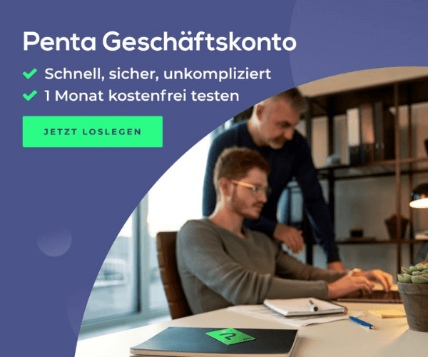 Penta Geschäftskonto für alle: 1 Monat kostenlos testen